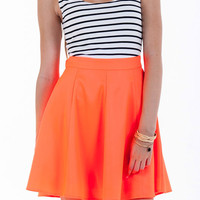 Swing Into Summer Sleeveless Dress/Skater Skirt-Neon Coral