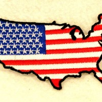 USA Boarder Flag Small Patch for Biker Vest SB730