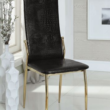 Noah Contemporary Side Chair, Black