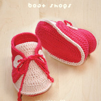 Baby Sneakers Crochet PATTERN, SYMB.. on Luulla
