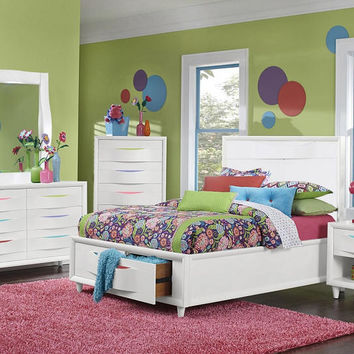 Crayola Colors Twin Size Storage Bed