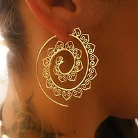 Swirl Hoop Boho Earrings