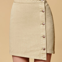 MinkPink Sandstorm Button Front Denim Mini Skirt at PacSun.com