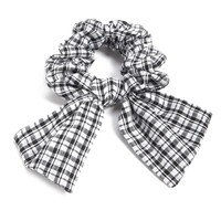 Plaid Bow Hair Scrunchie