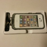 White Color Waterproof Shockproof Pc Case Life Dirt Proof Cover Fits Apple Iphone 4 4s