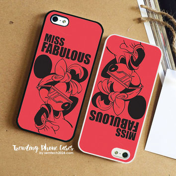 Minnie Mouse Miss Fabulou iPhone Case Cover for iPhone 6 6 Plus 5s 5 5c 4s 4 Case