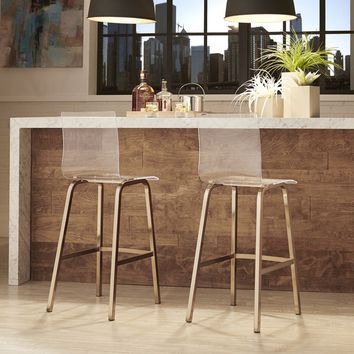 Miles Clear Acrylic Swivel Bar Stools with Back by INSPIRE Q (Set of 2) | Overstock.com Shopping - The Best Deals on Bar Stools