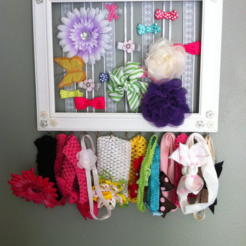 Custom Hair Bow Organizer for Girls Room or Nursery