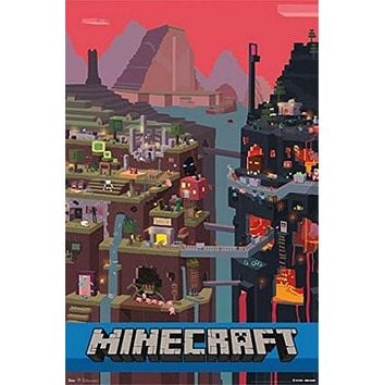 MINECRAFT POSTER Amazing Video Game Image RARE HOT NEW 22x34 Style B