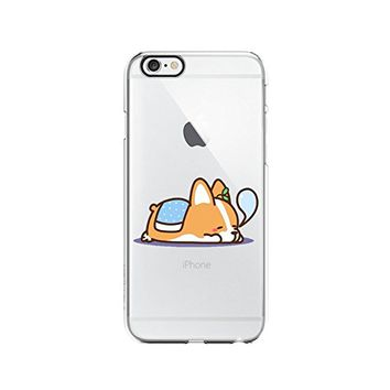 Cute Corgi Dog Cute Animals Clear Transparent Plastic Phone Case Phone Cover for Iphone 7/8_ SCORPIOshop (VA245, iphone 7/8)