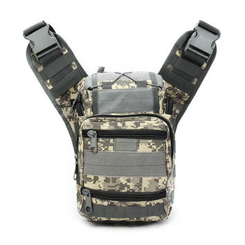 Men Oxford Waterproof Camo Tactical Shoulder Camera Crossbody Chest Bag