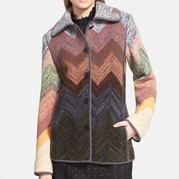 Women's Missoni Zigzag Boiled Wool Jacket
