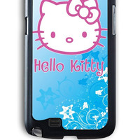 Samsung Galaxy Note 2 Case - Hard (PC) Cover with Hello Kitty Blue Plastic Case Design