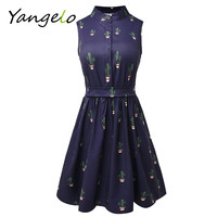 Summer Style 2016 Women Dress Flamingo Fun Flare Prints Casual High Waist Cute A Line Mini Dresses