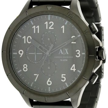 Armani Exchange Black Stainless Steel Chronograph Watch AX1751