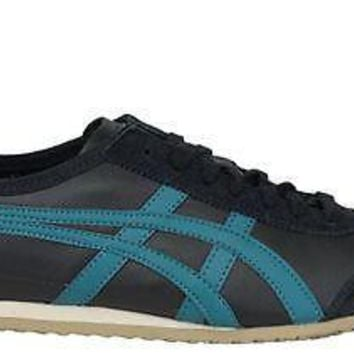 onitsuka tiger by asics mens shoes mexico 66 black shaded spruce  number 1