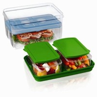 Fit & Fresh Lunch on the Go Container Set with Removable Ice Pack (Colors May Vary):Amazon:Health & Personal Care