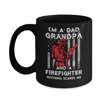 I'm A Dad Grandpa Firefighter Father's Day Gift Mug