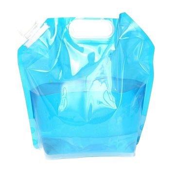 HOT sale Foldable Water Canister, 5L Canister Camping Outdoor Folding Canister Drinking Water, transparent blue