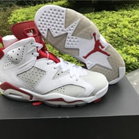 "Air Jordan 6 ""Hare"" Men Basketball shoes"