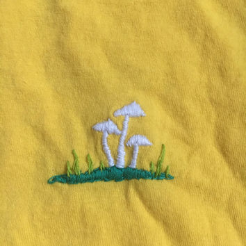 forest mushroom embroidered t-shirt