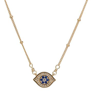 CZ Colored Evil Eye on Ball Chain