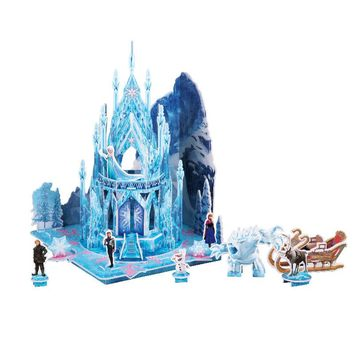 Disney Ice and Snow Frozen Isolated Aisha Anna Princess Stereo Puzzle Children's Educational Toys Children's Day Gifts
