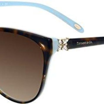 Tiffany Sunglasses TF4089B Solid Black & Brown