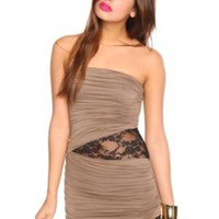 Laced Drape Dress