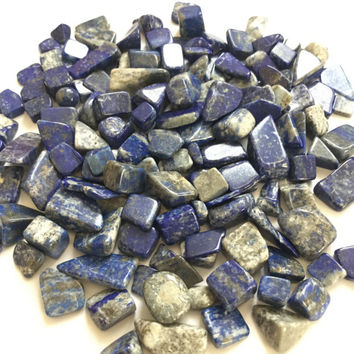 Blue Tumbled Crystal Stones Mosaic / Glass Mosaic Tiles / Hand Craft Art Candle Lamp DIY Tool 100g #61