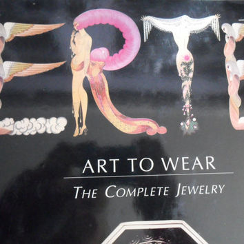 Erte Book Art To Wear Rare Collectors Reference Jewelry Makers Resource Coffee Table Book