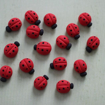 3D Ladybug Fondant Toppers Perfect for that Special Occasion - Wedding, Birthday, Baptismal