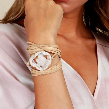 Skipping Rocks Wrap Bracelet Tan