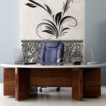 Vinyl Wall Decal Sticker Arabic Flower Swirl #OS_AA346