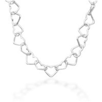 Floating Hearts - Uniquely Designed Pretty Little Heart's Sterling Silver Necklace
