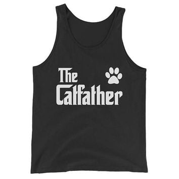 Men's The CatFather Tank Top - Cat Lovers Gift for Cat Dad