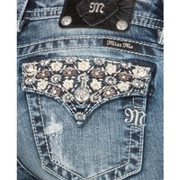 Miss Me Floral Embroidered Back Pocket Jeans - Sheplers