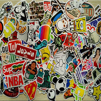 New 50 PCS Car Stying waterproof Skateboard Vinyl Sticker Graffiti Laptop Luggage Car motorcycle bicycle Bomb Decal Accessories