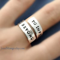 To infinity and beyond ring Custom Ring Personalized by JewelMango