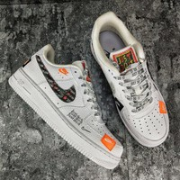 [ Free  Shipping ]Nike Air Force 1 Low PRM White Black AR7719 100 Men GS Just Do it Running  Shoes
