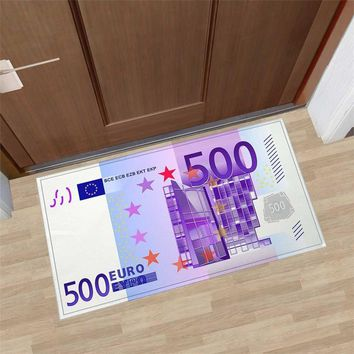 Autumn Fall welcome door mat doormat Funny Euro Money Welcome Home  Entrance Bathroom Kitchen Mat Anti-Slip Home  Floor Rugs Carpets AT_76_7