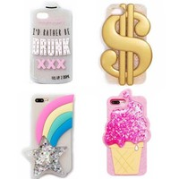 Glitter Soft 3D Silicone Case for iPhone