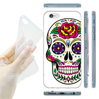 Skull Case Cover For iphone 6 Transparent Soft TPU phone case