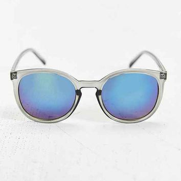 Quay Grey Mirror Square Sunglasses- Grey One