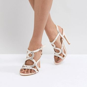 Truffle Collection Rhinestone Caged Sandal at asos.com