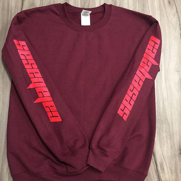 Kanye West Calabasas crewneck- i feel like pablo/saint pablo/yeezus/yeezy/ultra light beam/true legendary (infrared logo)