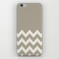 Chevron Colorblock Alabaster Blue Gray iPhone & iPod Skin by Beautiful Homes