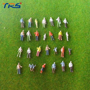 100pcs N scale 1:100 Architectural scale model train layout street passengers painted model figures for landscape models making