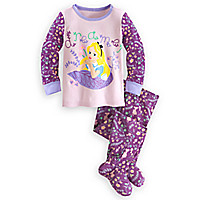 Alice in Wonderland Footed PJ PALS for Baby