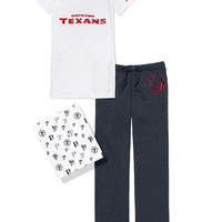 Houston Texans V-neck Tee & Boyfriend Pant Gift Set - PINK - Victoria's Secret